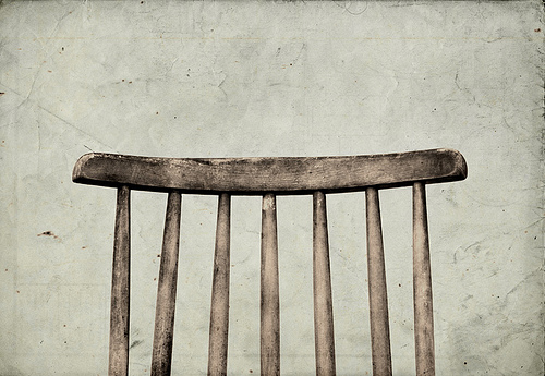 medium_2785551923 Do Less - Photo of the back of an old wooden chair