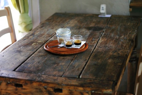 rustic-334080_1280 Six Habits To Keep Your Kitchen Clutter Free: Photo of neat kitchen table with coffee and sugar